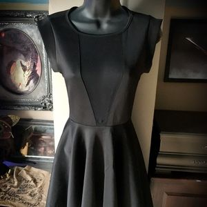 Love Culture Black Mesh Skater Dress
